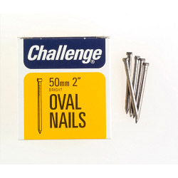Challenge Oval Wire Nails - Bright Steel (Box Pack) - 50mm