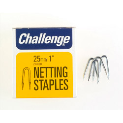 Challenge Netting Staples - Zinc Plated (Box Pack) - 25mm