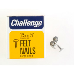 Challenge Felt - Extra Large - Head Clout Nails - Galvanised (Box Pack) - 15mm
