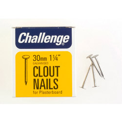Challenge Clout - Plasterboard Nails - Galvanised (Box Pack) - 30mm