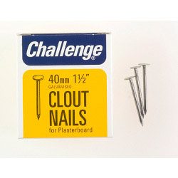 Challenge Clout - Plasterboard Nails - Galvanised (Box Pack) - 40mm