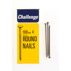 Challenge Round Wire Nails - Bright Steel (Box Pack) - 100mm