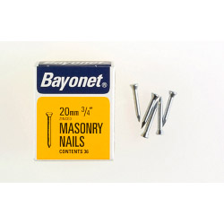 Bayonet Masonry Nails - Zinc Plated (Box Pack) - 20mm