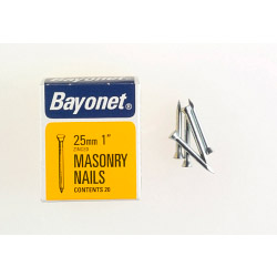 Bayonet Masonry Nails - Zinc Plated (Box Pack) - 25mm