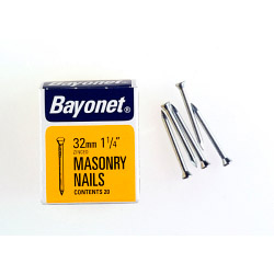 Bayonet Masonry Nails - Zinc Plated (Box Pack) - 30mm
