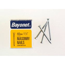 Bayonet Masonry Nails - Zinc Plated (Box Pack) - 40mm