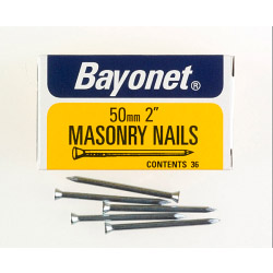 Bayonet Masonry Nails - Zinc Plated (Box Pack) - 50mm
