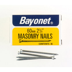Bayonet Masonry Nails - Zinc Plated (Box Pack) - 60mm