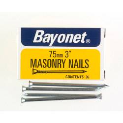 Bayonet Masonry Nails - Zinc Plated (Box Pack) - 75mm