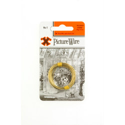 X Brass Picture Wire (Blister Pack) - No. 1