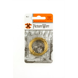 X Brass Picture Wire (Blister Pack) - No. 3