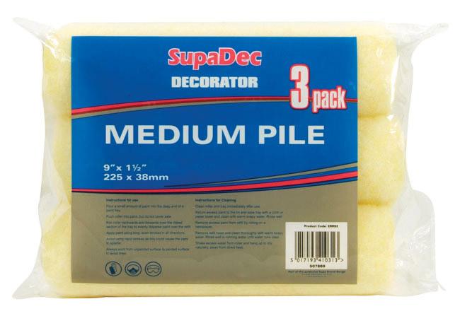 "SupaDec Roller Refills - 9"" x 1.5"" / 225mm x 38mm"