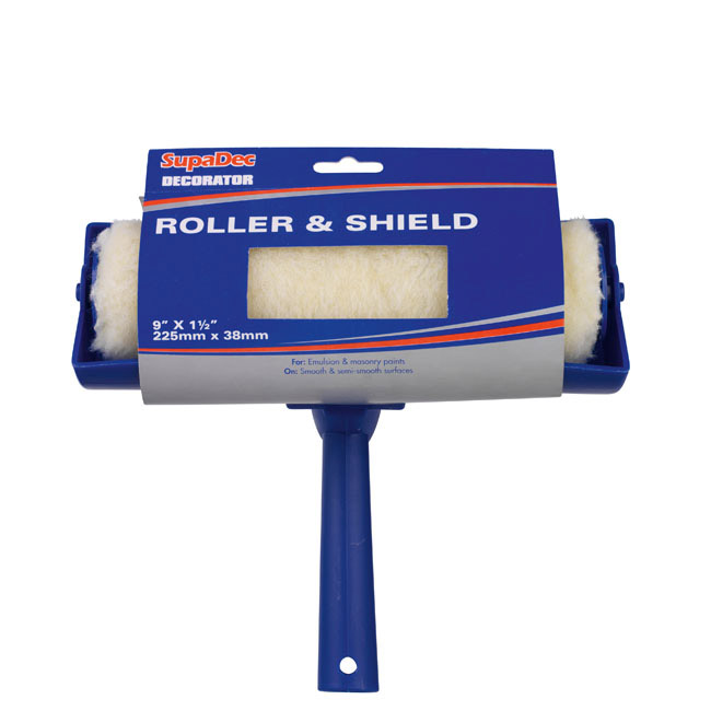 "SupaDec Decorator Roller & Shield - 9"" x 1.5"" / 225mm x 38mm"