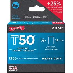 Arrow T50 Staples - 12mm (1250)