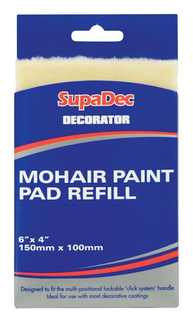 "SupaDec Decorator Mohair Paint Pad Refill - 6"" x 4"" /150mm x 100mm"