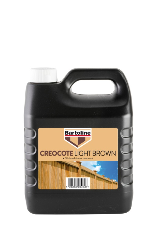 Bartoline Creocote Timber Treatment - 4L Light Brown