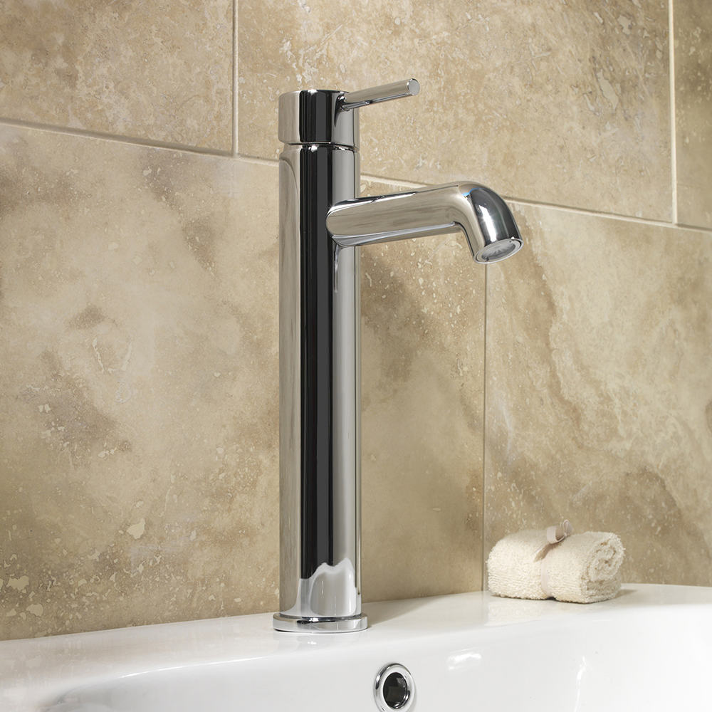 SP Spiral Extended Basin Mixer Tap - W: 56mm H: 320mm D: 176mm