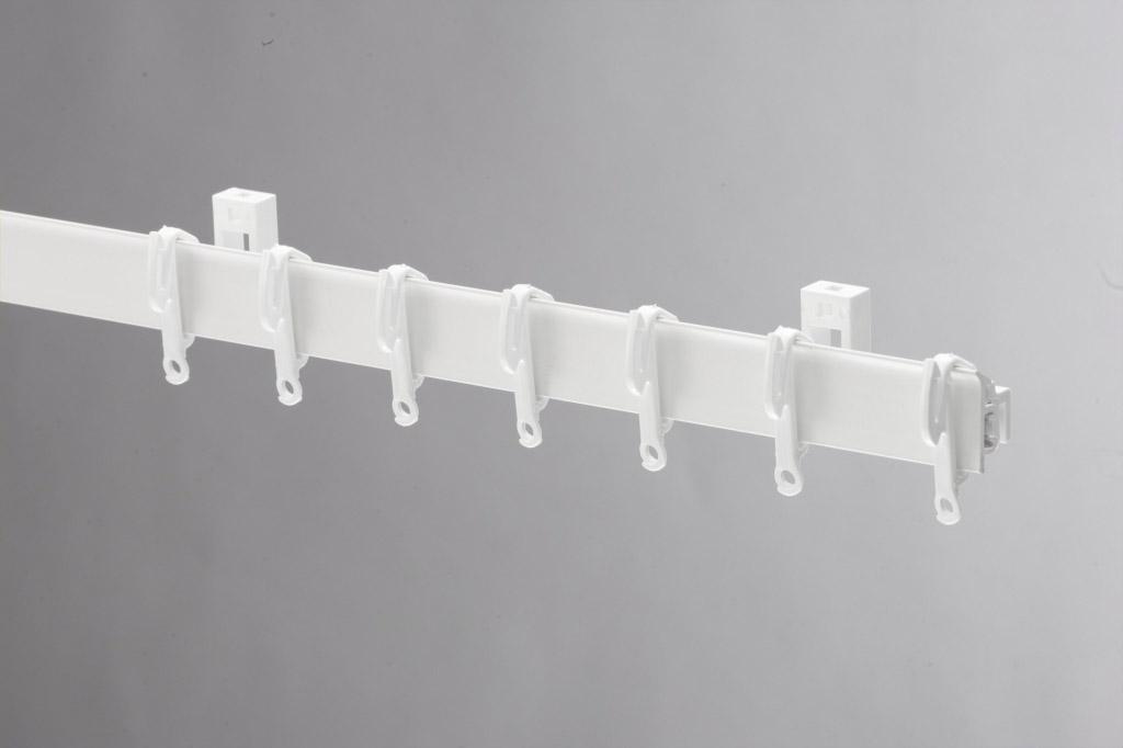 Swish Sologlyde PVC Curtain Track - 125cm White