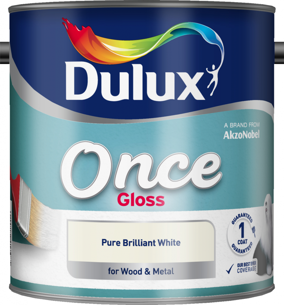Dulux Once Gloss 2.5L - Pure Brilliant White