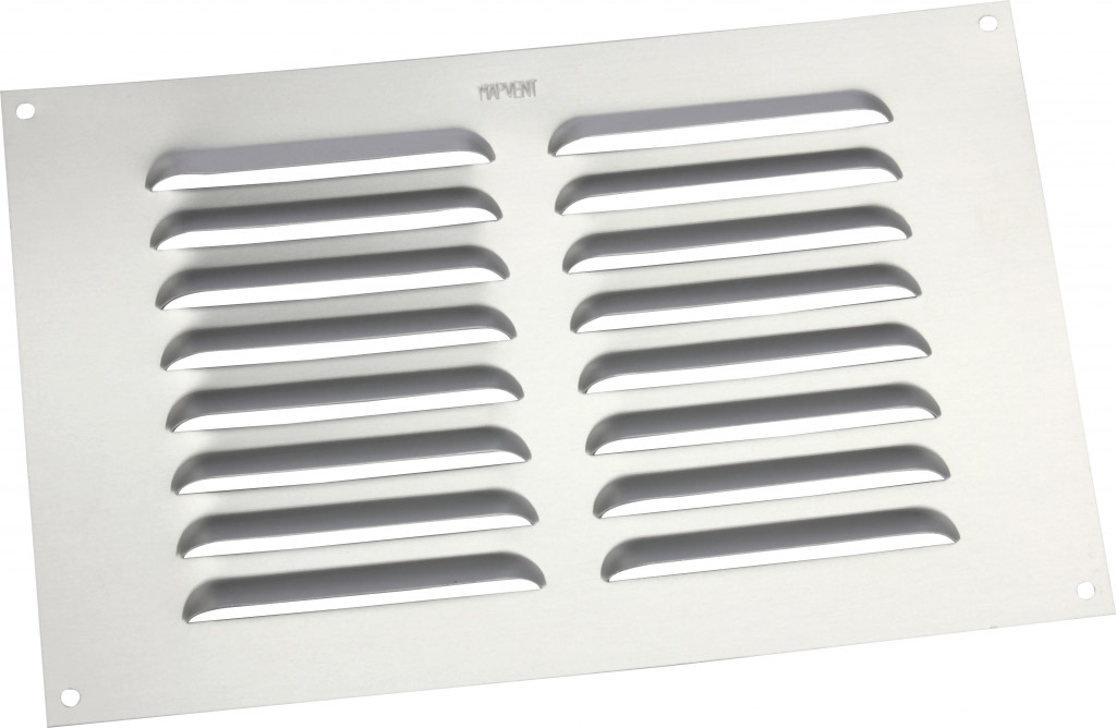 """Map Louvred Aluminium Vents - Silver - Opening Size: 9"""" x 6"""" - 229 x 152mm"""