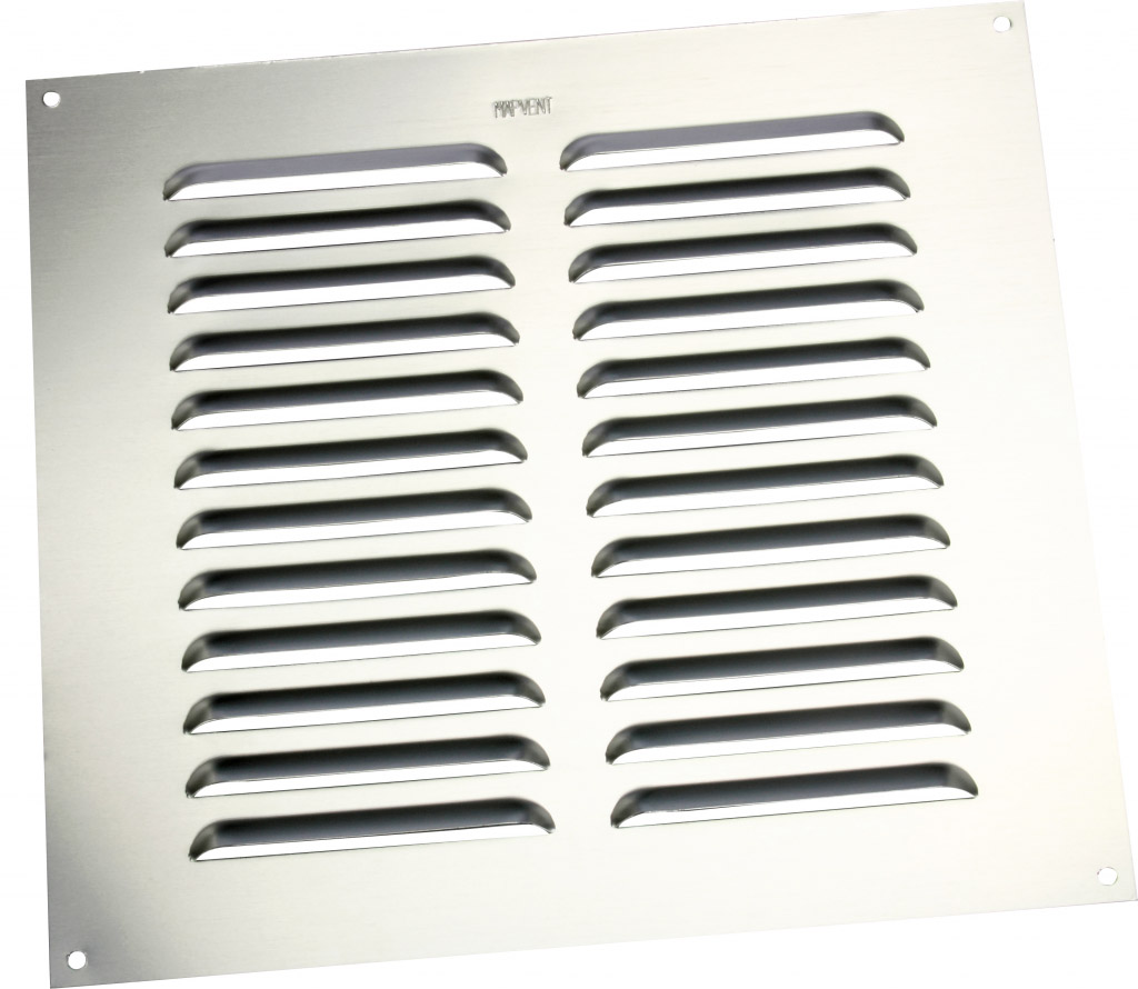 """Map Louvred Aluminium Vents - Silver - Opening Size: 9"""" x 9"""" - 229 x 229mm"""