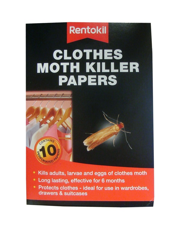 Rentokil Clothes Moth Killer Papers - Pack 10