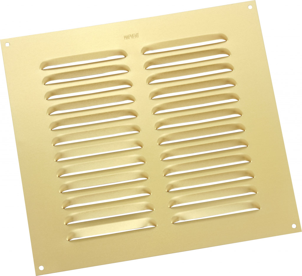"Map Louvred Aluminium Vents - Gold - Opening Size: 9"" x 9"" - 229 x 229mm"