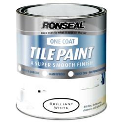 Ronseal One Coat Tile White Satin 750ml