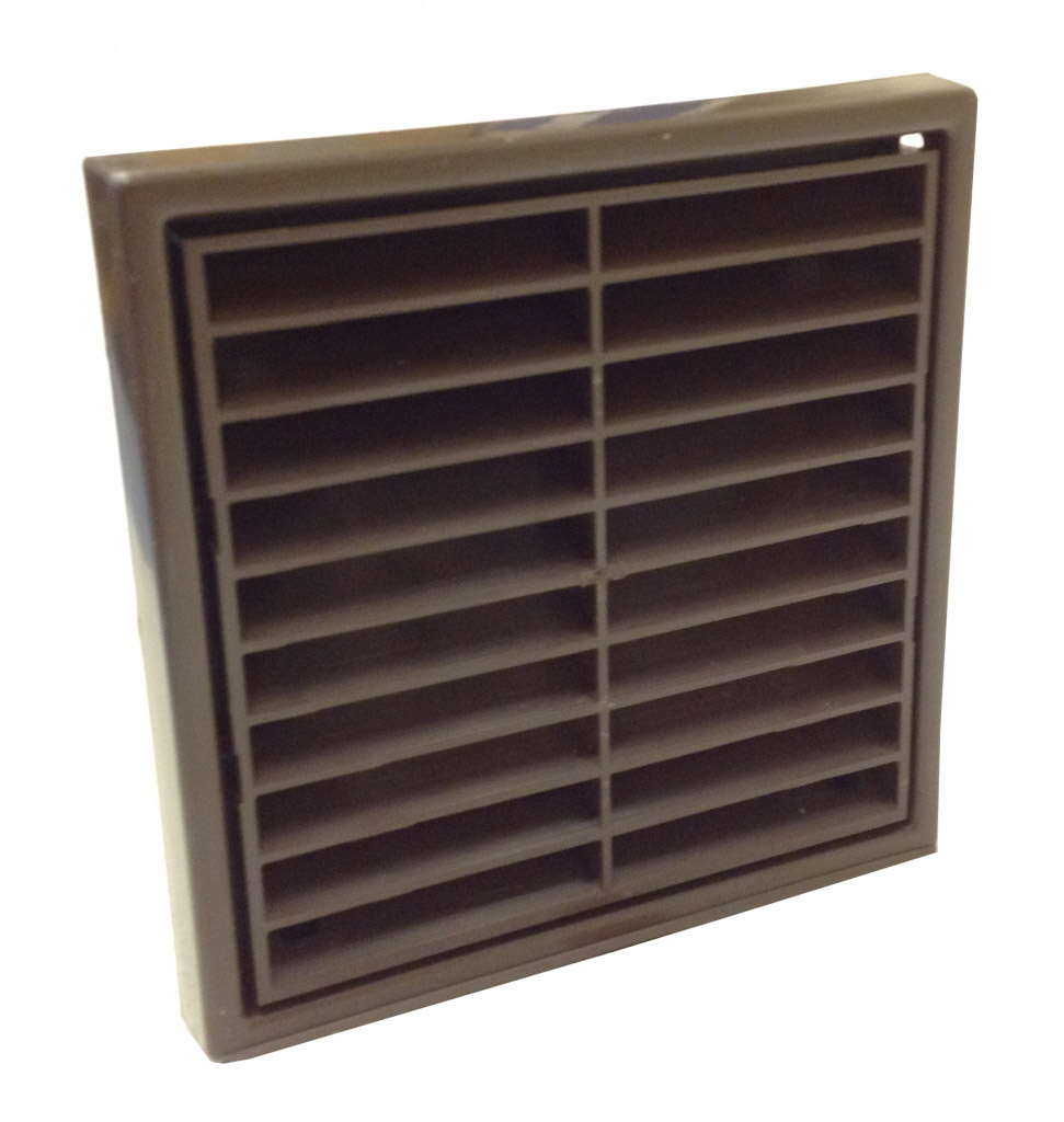 "Manrose Fixed Grill 4"" - Brown"