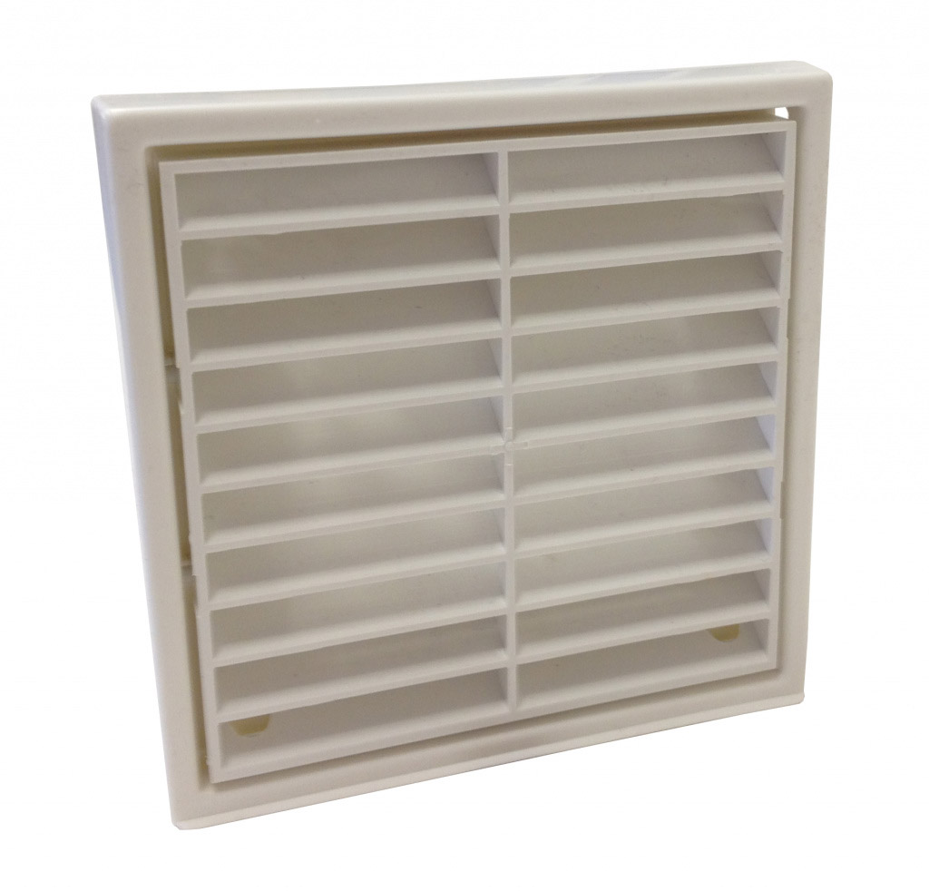 """Manrose Fixed Grill 4"""" - White"""