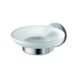Aqualux Kosmos Glass Soap Holder - Chrome