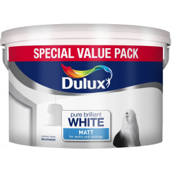 Dulux Matt Emulsion Pure Brilliant White 7L