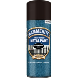 Hammerite Metal Paint 400ml Aerosol Hammered Black