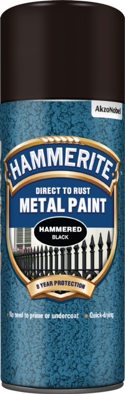 Hammerite Metal Paint 400ml Aerosol - Hammered Black