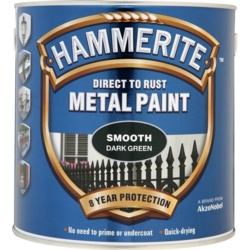 Hammerite Metal Paint Smooth 250ml Dark Green