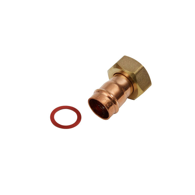 SupaPlumb Solder Ring Straight Tap Connector Pack 5 - 15mm X 1/2''