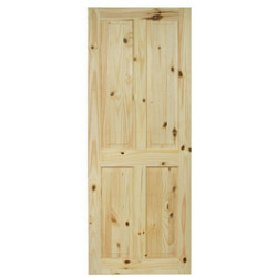 LPD Doors Knotty Pine Victorian 4 Panel Door