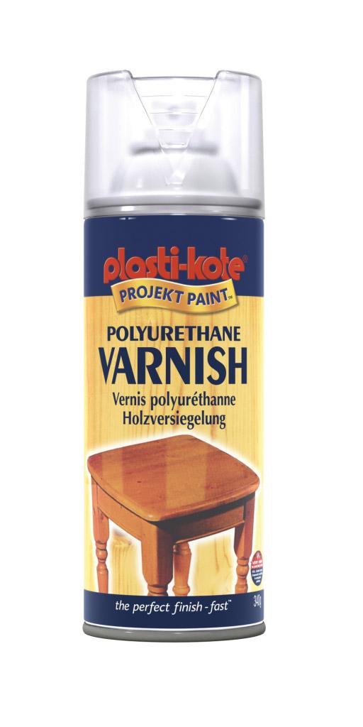 PlastiKote Polyurethane Varnish - 400ml Clear Satin
