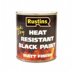 Rustins Heat Resistant Paint Black