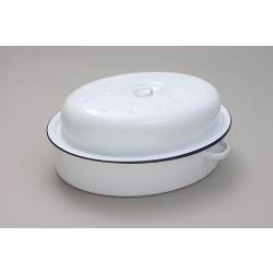 Falcon Falcon Oval Roaster - Traditional White - 30cm x 21.5cm x 14.5D