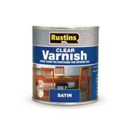 Rustins Polyurethane Satin Varnish 1L - Clear