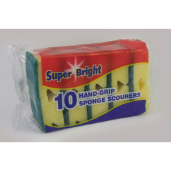 Superbright Hand Grip Sponge Scourers