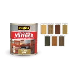 Rustins Polyurethane Gloss Varnish 250ml - Teak