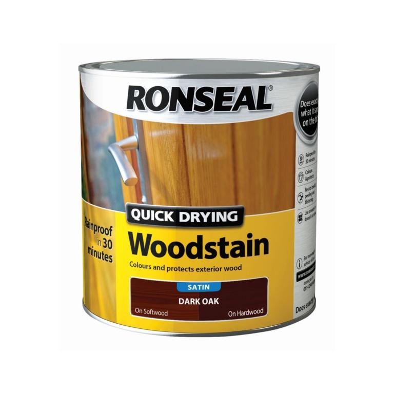 Ronseal Quick Drying Woodstain Satin 2.5L - Dark Oak