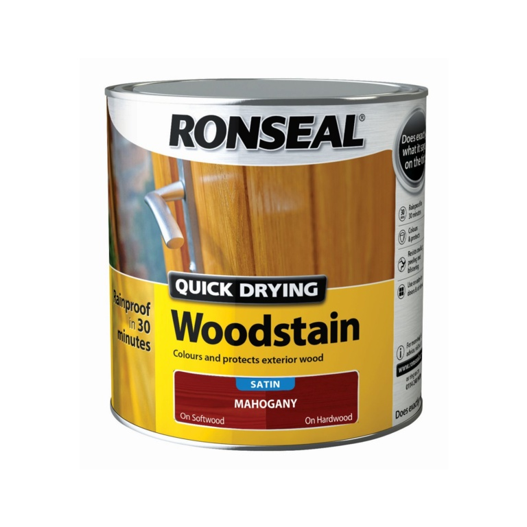 Ronseal Quick Drying Woodstain Satin 2.5L - Mahogany