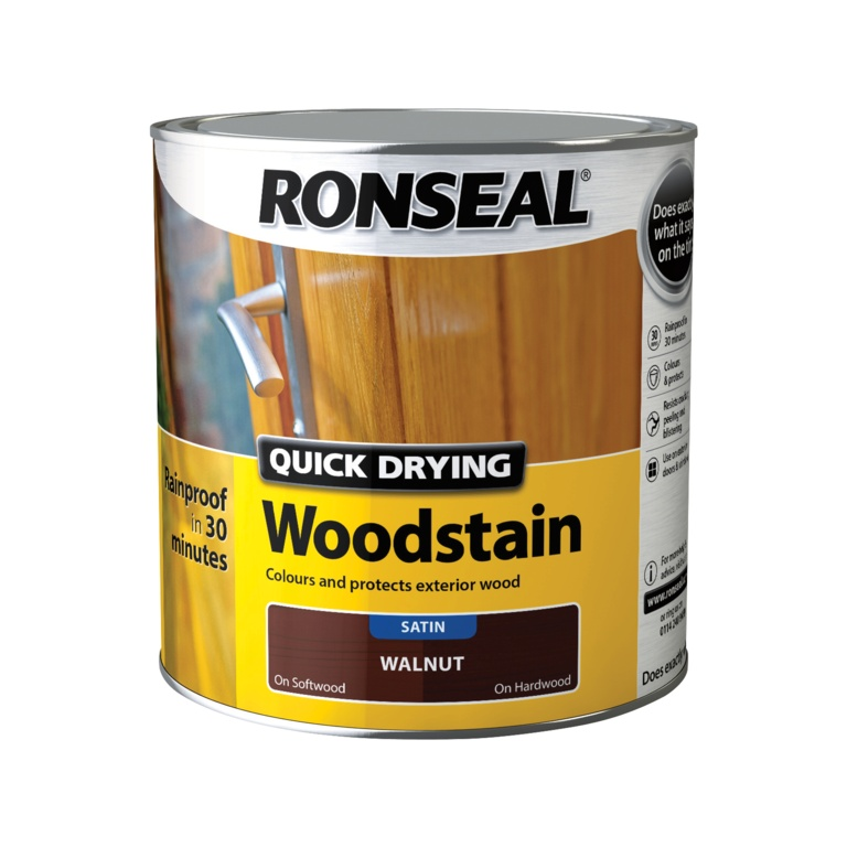 Ronseal Quick Drying Woodstain Satin 2.5L - Walnut