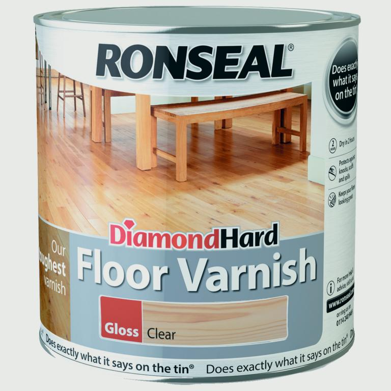 Ronseal Diamond Hard Clear Varnish 2.5L - Gloss