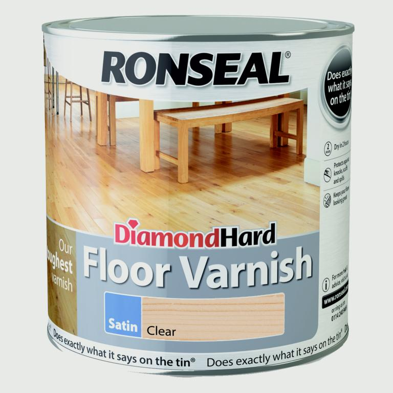 Ronseal Diamond Hard Clear Varnish 2.5L - Varnish Satin