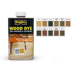 Rustins Interior & Exterior Wood Dye 250ml - Ebony