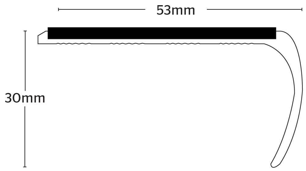 Stikatak Slimline Bull Nose - Aluminium